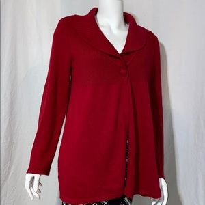 Alfani Red one button front Sweater Size L
